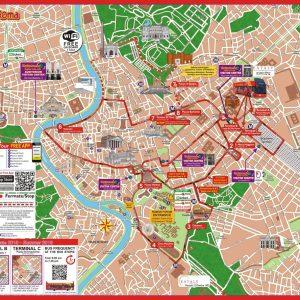 אוטובוס תיירים ברומא מפה